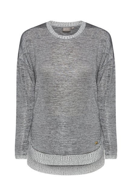Gia by Westside Grey Solid Top