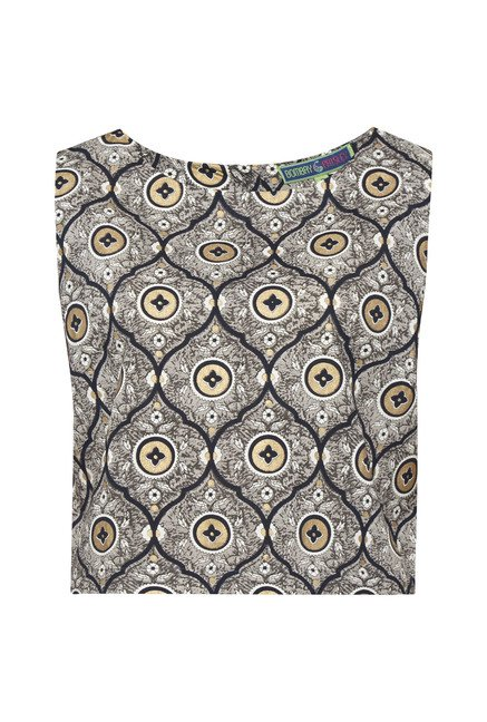 Bombay Paisley by Westside Grey Printed Crop Top