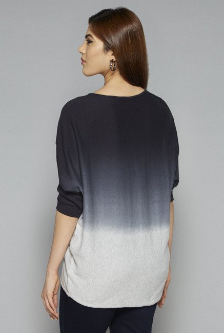 Gia by Westside Black Ombre Print Top