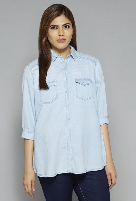 Sassy Soda by Westside Blue Rosann Blouse