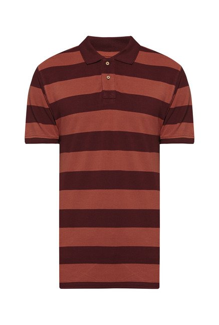 Westsport by Westside Rust Striped T Shirt