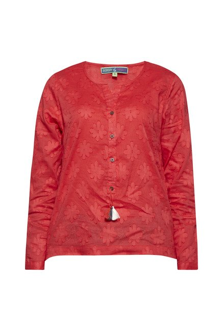 Bombay Paisley by Westside Red Self Print Top