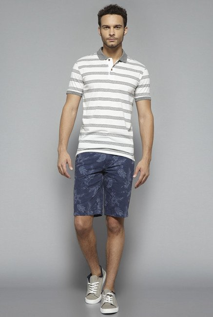 Westsport by Westside White Striped T Shirt