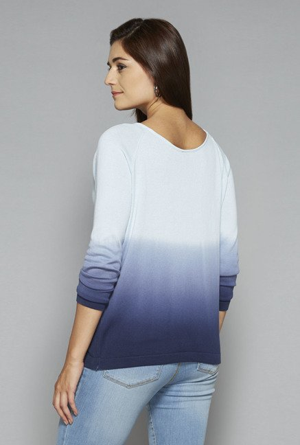 LOV by Westside Blue Madeline Ombre Print Top