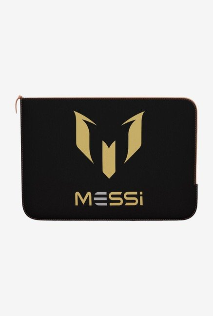 "DailyObjects Messi Black Macbook 12"" Zippered Sleeve"