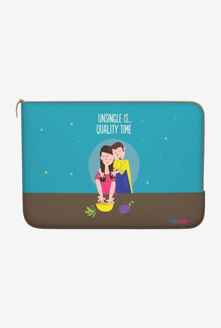 "DailyObjects Quality Time Macbook 12"" Zippered Sleeve"