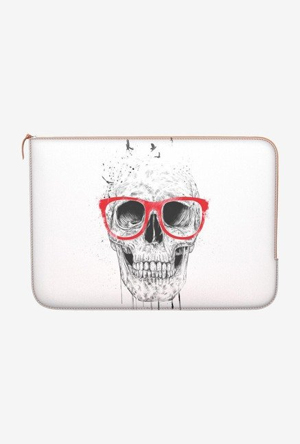 DailyObjects Skull Red Glass Macbook 12