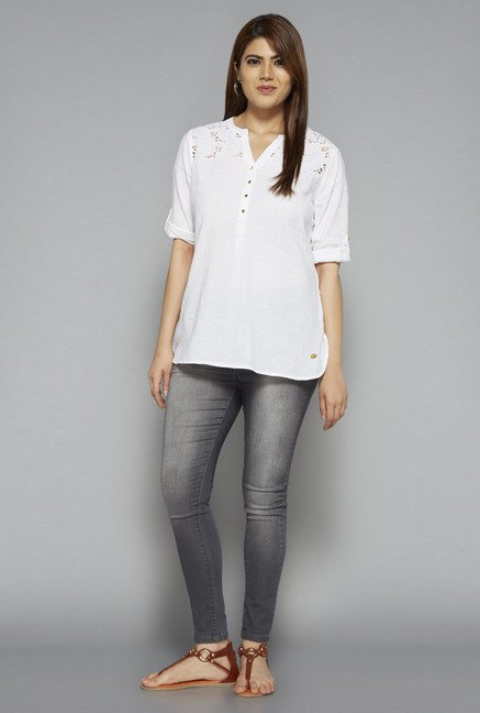 Gia by Westside Off White Mandy Blouse