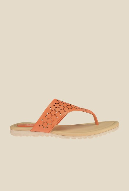 Khadim's Cleo Peach Thong Sandals