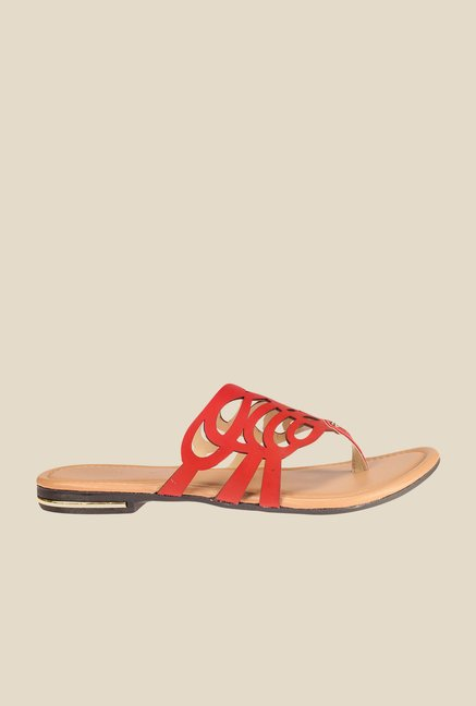 Khadim's Red Thong Sandals
