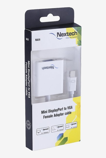 Nextech NA20 Mini Display Port to VGA Adapter(White)