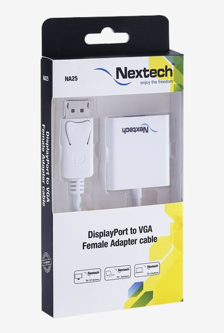 Nextech NA25 High Speed Display Port to VGA Adapter (White)