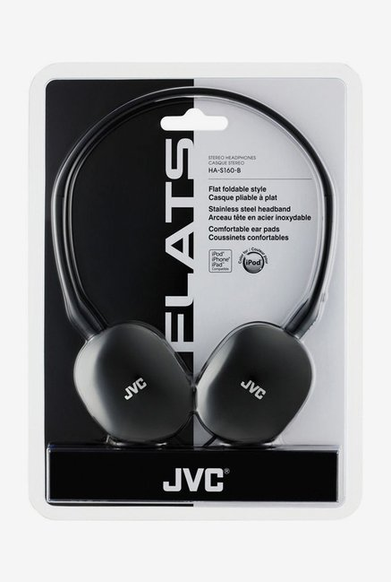JVC HA-S160 On The Ear Headphones (Black)