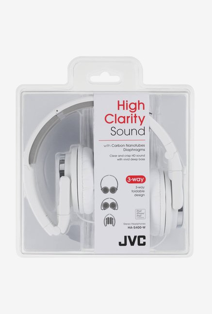 JVC HA-S400 On The Ear Headphones (White)