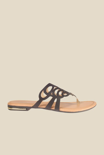 Khadim's Black Thong Sandals
