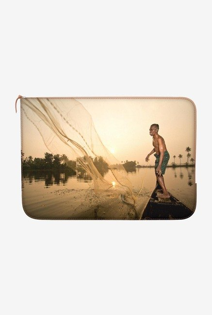 "DailyObjects Cast Your Net Macbook Air 11"" Zippered Sleeve"