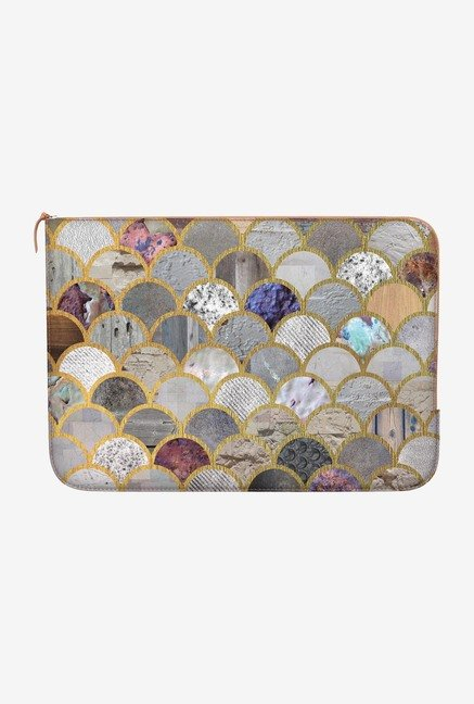 "DailyObjects Textured Moons Macbook 12"" Zippered Sleeve"