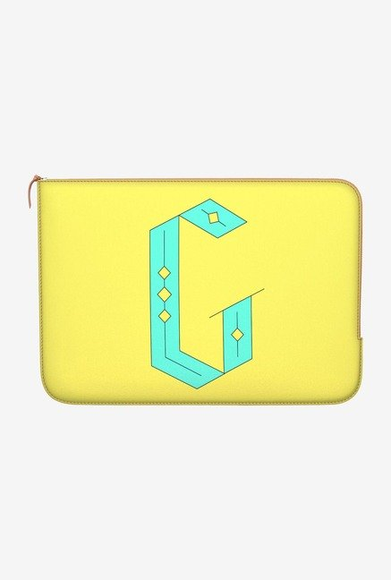 "DailyObjects Stylised G Macbook 12"" Zippered Sleeve"