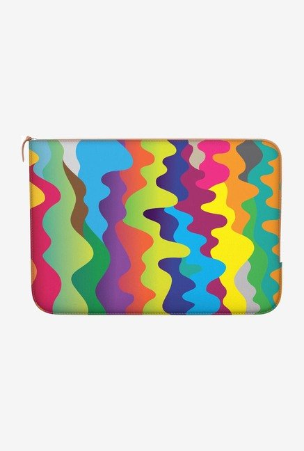 "DailyObjects Colour Waves Macbook Air 13"" Zippered Sleeve"