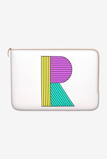"DailyObjects Stylised R Macbook 12"" Zippered Sleeve"