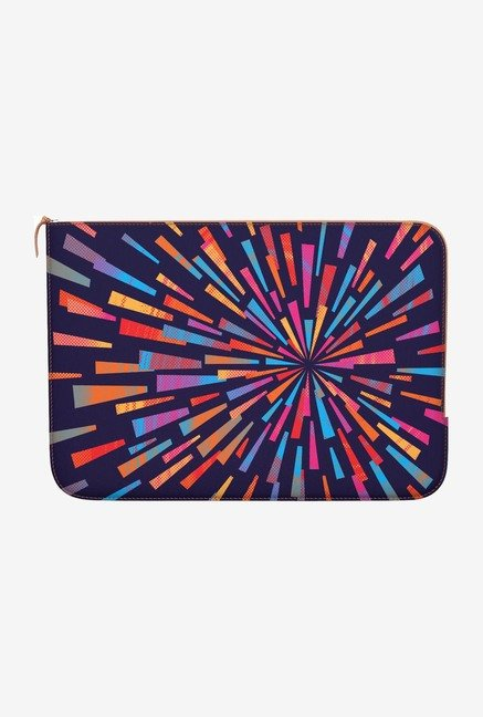 "DailyObjects Swirl Backpack Macbook Air 11"" Zippered Sleeve"