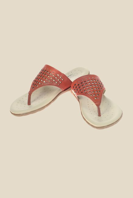 Khadim's Cleo Brown Thong Sandals