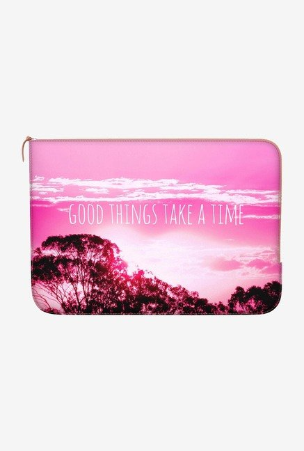 "DailyObjects Things Take Time Macbook 12"" Zippered Sleeve"