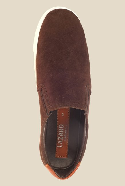 Khadim's Lazard Brown & White Plimsolls