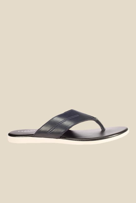 Khadim's Lazard Black Thong Sandals