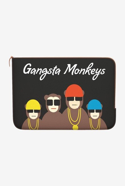 "DailyObjects Gansta Monkeys Macbook Air 11"" Zippered Sleeve"