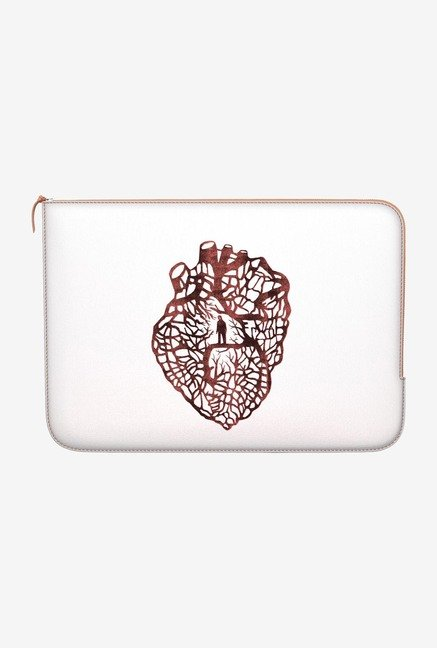 "DailyObjects Maze Heart Macbook 12"" Zippered Sleeve"