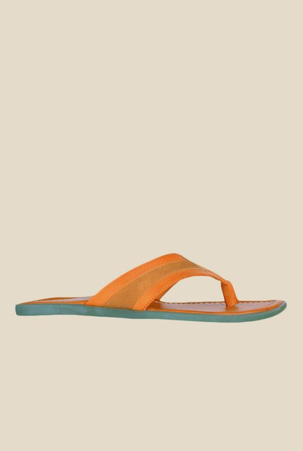Khadim's Lazard Tan Thong Sandals
