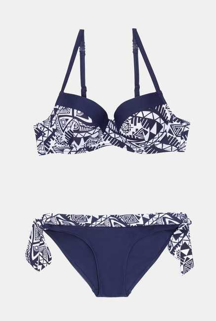 Infinity Lingerie Blue Printed Katuete Swimsuit