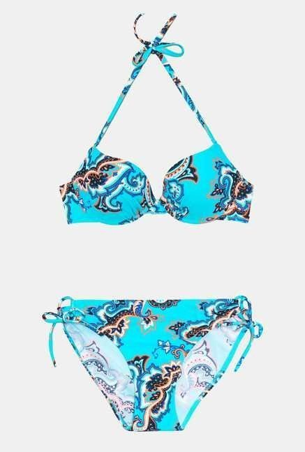 Infinity Lingerie Turquoise Printed Itape Swimsuit