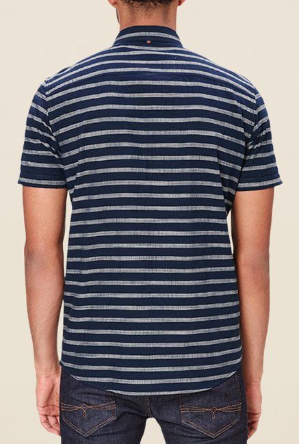 s.Oliver Navy Striped Shirt
