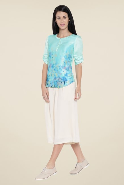 Kraus Light Blue Printed Top
