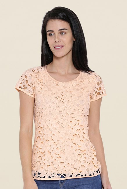 Kraus Peach Self Print Top
