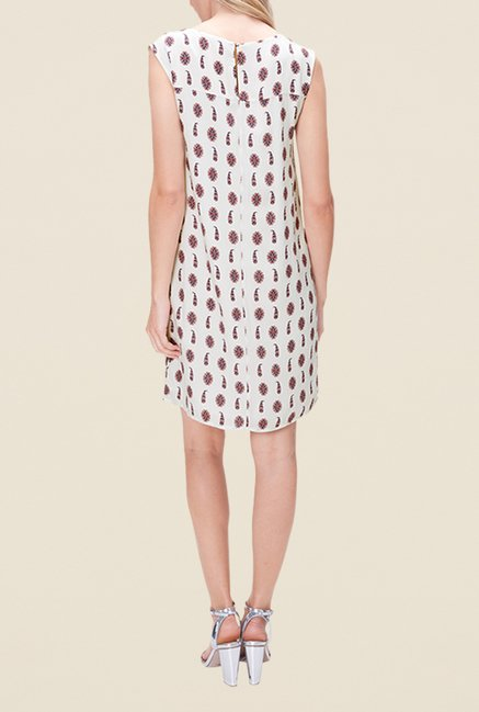 s.Oliver Cream Printed Dress