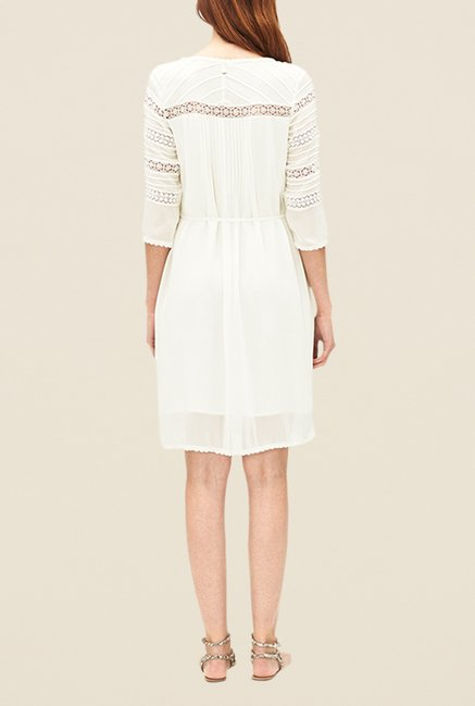 s.Oliver Cream Lace Dress
