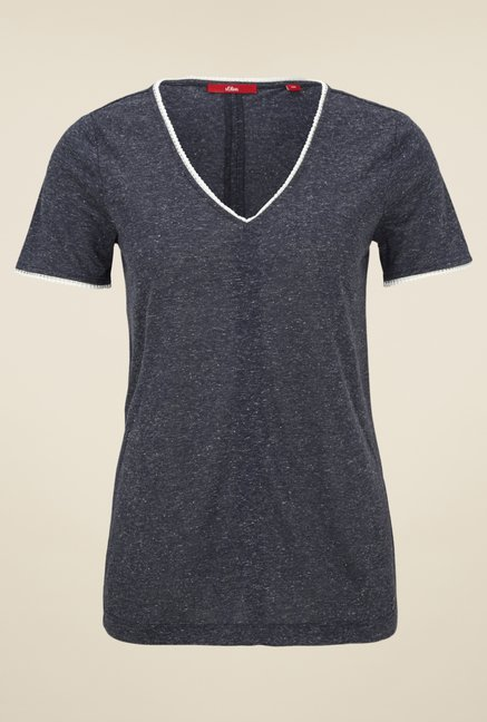 s.Oliver Grey V Neck T Shirt