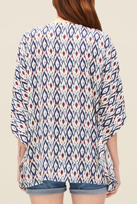 s.Oliver Cream Printed Top