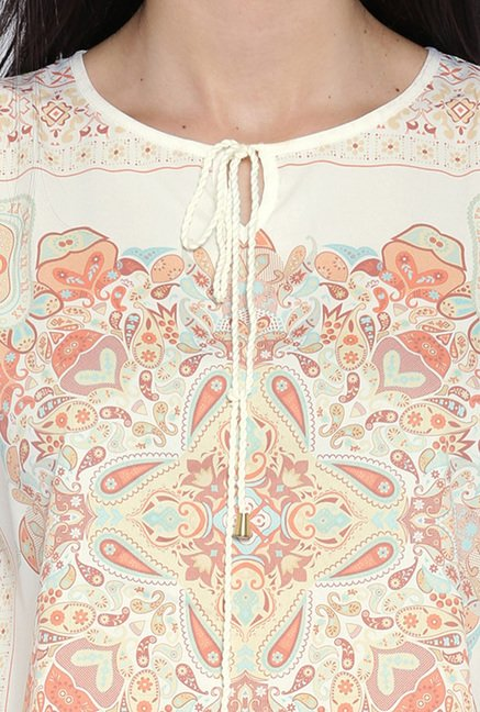Kraus Cream Printed Top