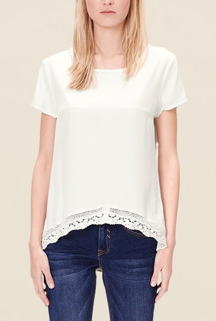 s.Oliver White Solid Top