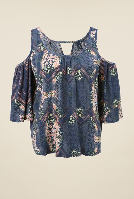 s.Oliver Blue Printed Top
