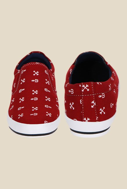 Kielz Red & White Plimsolls