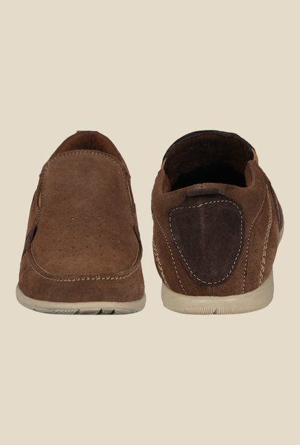 Kielz Brown Casual Slip-Ons