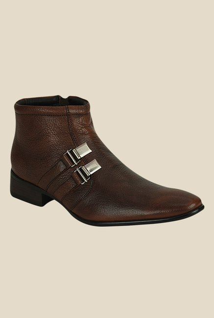Kielz Brown Monk Boots