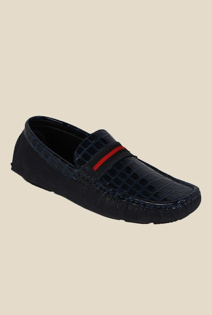 Kielz Navy & Red Loafers