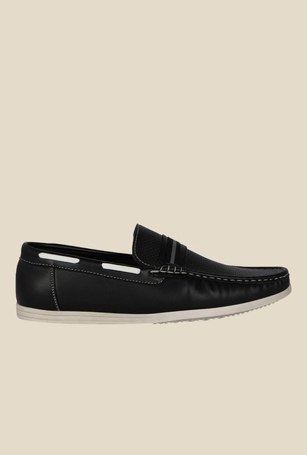Kielz Black Boat Shoes
