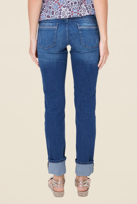 s.Oliver Blue Lightly Washed Slim Fit Jeans